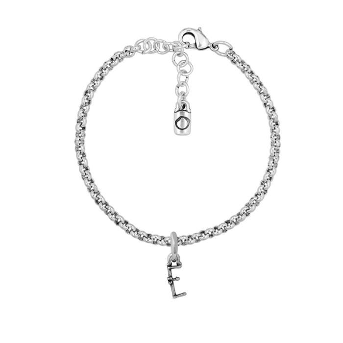 Pulsera con cadena y letra pequeña E