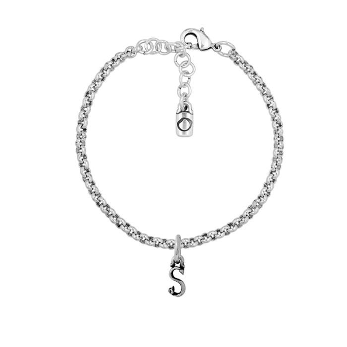 Pulsera con cadena y letra pequeña S