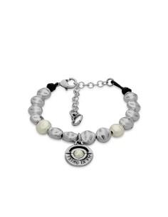Pulsera Perle con cuero y perla